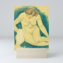 Seated Nude Seen from Above by Paul Gauguin. Mini Art Print