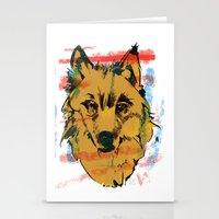 howl Stationery Cards featuring HOWL by Galvanise The Dog