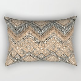 beaded chevron apricot Rectangular Pillow