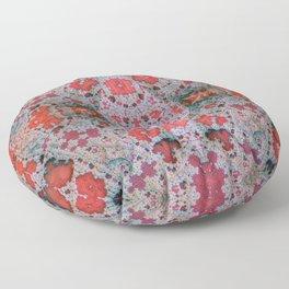 Lace Crimson Floor Pillow