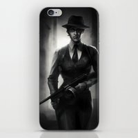 cassandra jean iPhone & iPod Skins featuring DA Noire - Cassandra  by therealmcgee