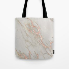 Marble - Rose Gold Marble Metallic Blush Pink Tote Bag