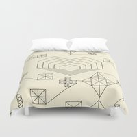 valentine Duvet Covers featuring Valentine by Leandro Pita