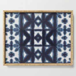 Blue Pima Shibori Serving Tray