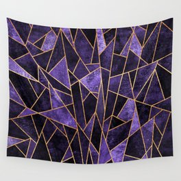 Shattered Amethyst Wall Tapestry