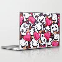 league of legends Laptop & iPad Skins featuring League of Legends Poro Party by SylvieW