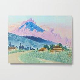 Tokuriki Tomikichiro Mt Fuji from the Koshu Road Japanese Woodblock Print Asian Historical Metal Print