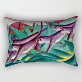 """Franz Marc """"Monkey Frieze (Affenfries)"""" Rectangular Pillow"""