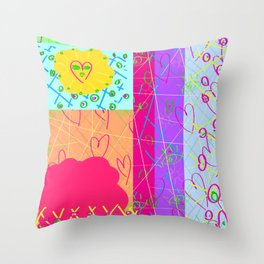 Little Missy Sunshine Throw Pillow