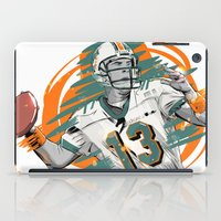 nfl iPad Cases featuring NFL Legends: Dan Marino - Miami Dolphins by Akyanyme