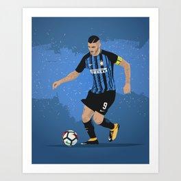 Mauro Icardi Inter Milan Art Print