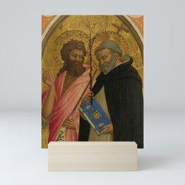 "Fra Angelico (Guido di Pietro) ""Saint John the Baptist and Saint Dominic"" Mini Art Print"