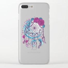 atrapasueños pink Clear iPhone Case
