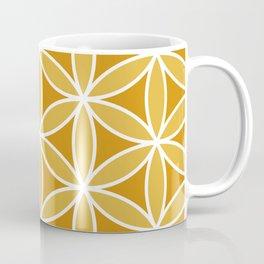 Flower of Life Large Ptn Oranges & White Coffee Mug