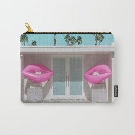 Modern Palm Springs Home with Pink Lip Floaties at the Door Carry-All Pouch