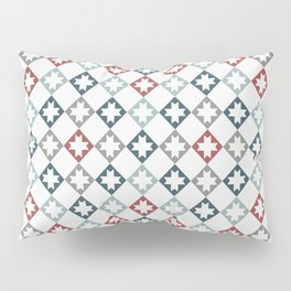 Modern Farmhouse Quilt Pattern Vintage Inspired NorthStar and Diamond Harlequin Print Pillow Sham