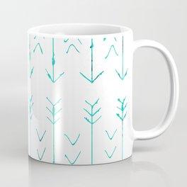 Large Teal Arrows Coffee Mug