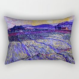 Lavender Fields with Rising Sun by Vincent van Gogh Rectangular Pillow