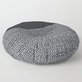 Riverside (Black) Floor Pillow