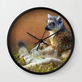 Lemur's wish Wall Clock