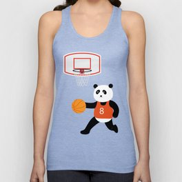 Play basketball with a panda Unisex Tank Top