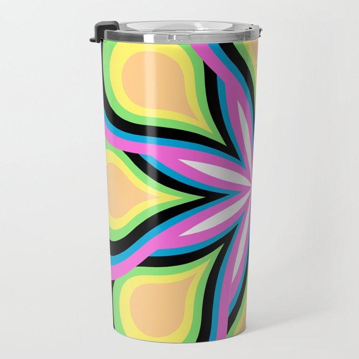 Colorful Feathers Mandala Travel Mug