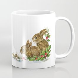 Winter in the forest - Animal Bunny Illustration Coffee Mug