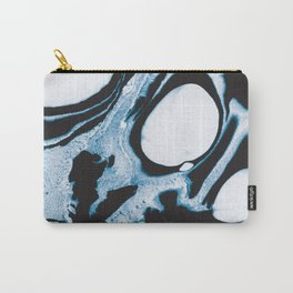 Abstact in blue and black Carry-All Pouch