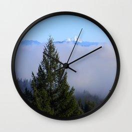 Beyond the fog is Mount Lassen.... Wall Clock