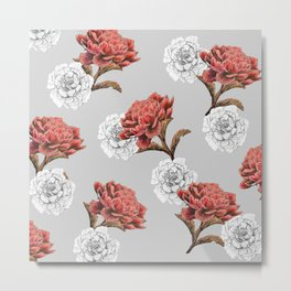red and white flowers Metal Print