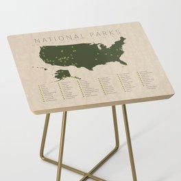 US National Parks Side Table