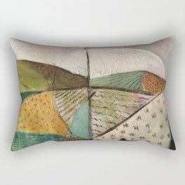 white sun Rectangular Pillow