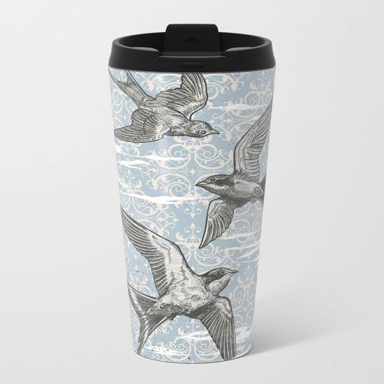 Free Bird (Three Swallows) Metal Travel Mug