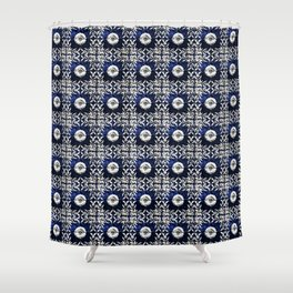 Azulejo VII - Portuguese hand painted tiles Shower Curtain