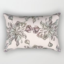 Vintage floral seamless pattern with hand drawn coloring  crocus Rectangular Pillow