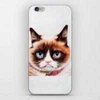 grumpy iPhone & iPod Skins featuring grumpy by AngelaArt