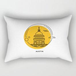 Austin Icon- Capitol  Rectangular Pillow