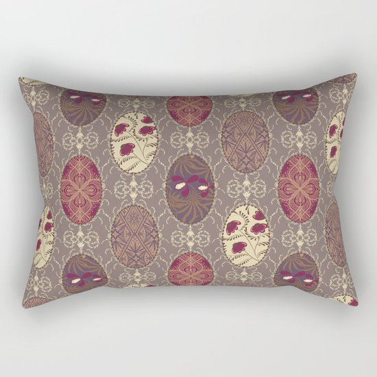 Patchwork seamless floral abstract pattern texture background Rectangular Pillow
