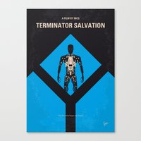 No802-4 My The Terminator 4 minimal movie poster Canvas Print