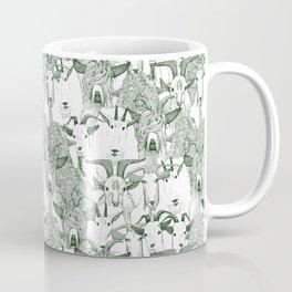 just goats dark green Coffee Mug