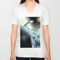 warrior V-neck T-shirts featuring Warrior by sladja