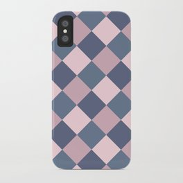 Gray pink Geometric pattern iPhone Case