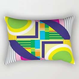 Geometric Colorfull Pattern IV Rectangular Pillow