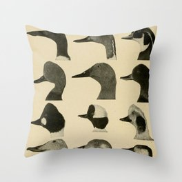 Vintage Duck Heads Throw Pillow