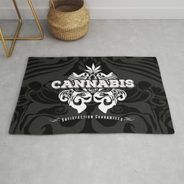 Cannabis Vintage Sign Rug