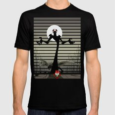 little red MEDIUM Mens Fitted Tee Black