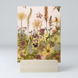 Pink Flower Garden Mini Art Print