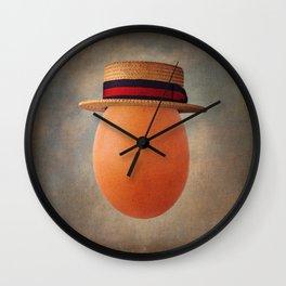 Vintage Egg in Ponte Rialto Boater Wall Clock