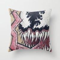 venom Throw Pillows featuring Venom by chris panila