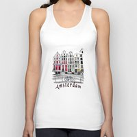 amsterdam Tank Tops featuring Amsterdam by Pixelpolly